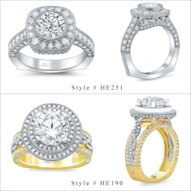 European Shank Engagement Rings