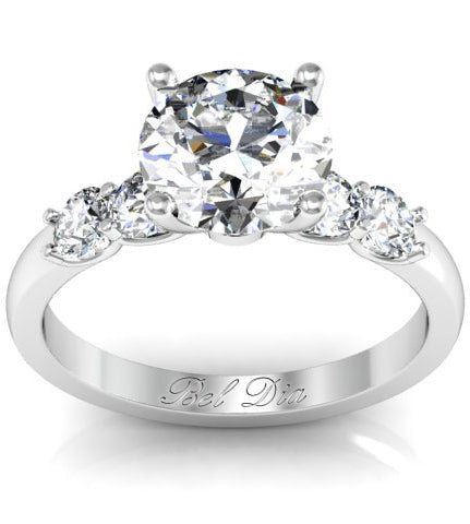 5 stone engagement rings