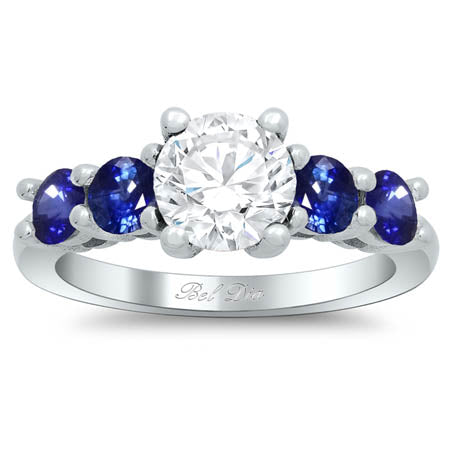 Sapphire Accented Five Stone Ring