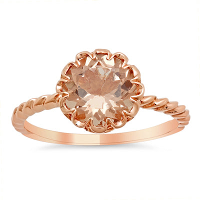 Round Solitaire Morganite Ring