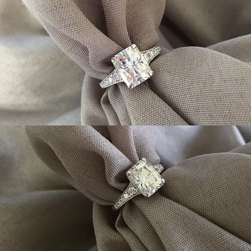 Antique Style Moissanite Engagement Rings