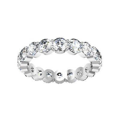 Forever One Moissanite Round Eternity Ring