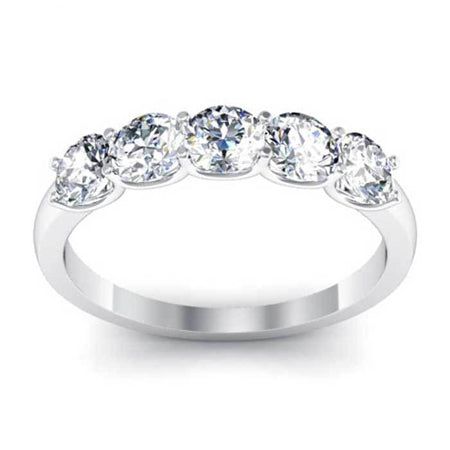 Forever One Moissanite Round Five Stone Ring