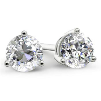 Forever One Moissanite Stud Earrings Round