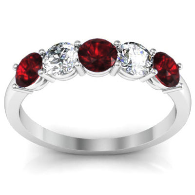 January Birthstone Ring with Diamonds