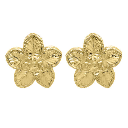 Floral Earrings Gold