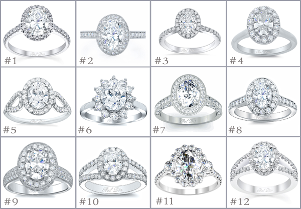 Halo Oval Engagement Rings