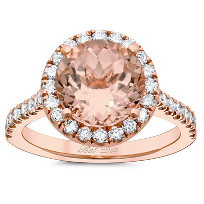 Halo Setting for Round Morganite