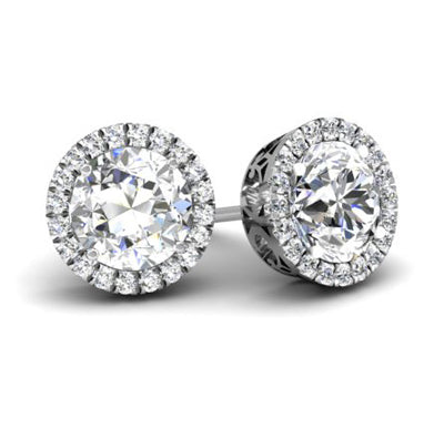 Diamond Earrings Halos