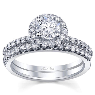 Halo Wedding Set Round Diamond Set - Preset
