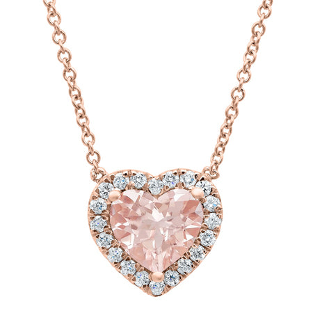 Heart Morganite Necklace