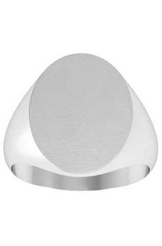 White Gold Signet Rings