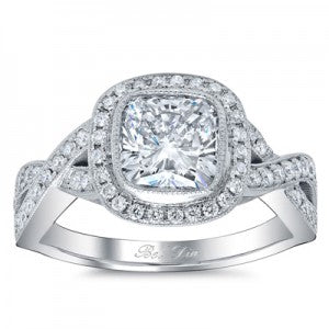 Bezel Set Infinity Engagement Ring