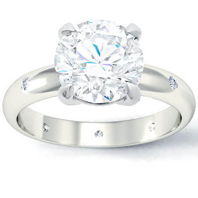 Affordable Diamond Accented Engagement Ring