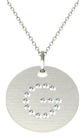 Letter G Flush Diamond Pendant