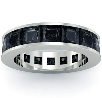 Men's Black Diamond Eternity Band