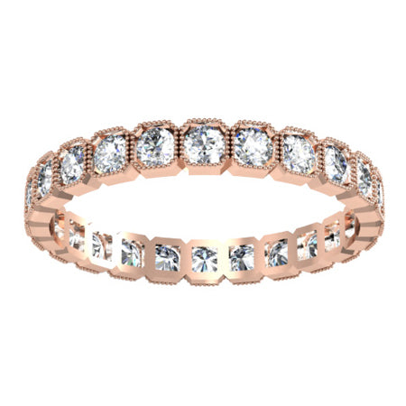 Rose Gold Milgrain Eternity Ring