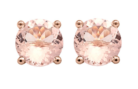 stud earrings morganite