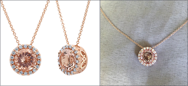 Anniversary Necklaces Morganite