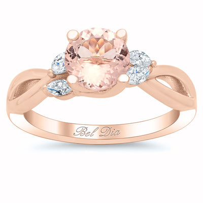 Unique Morganite Engagement Rings
