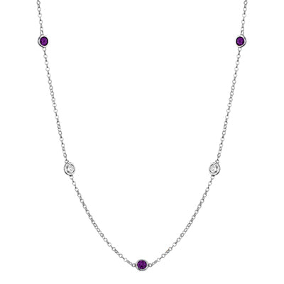 Amethyst Station Necklace
