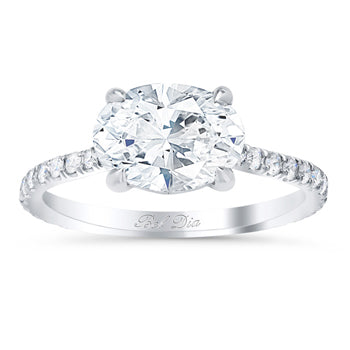 Oval Diamond Accented Engagement Rings