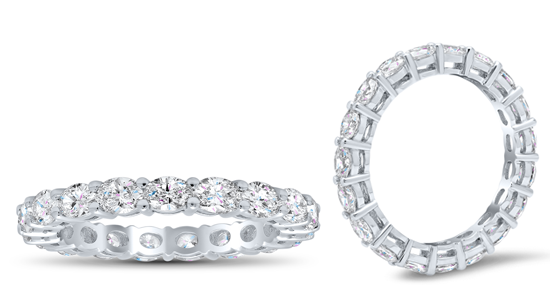 Oval East West Eternity Ring