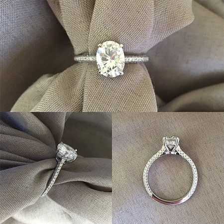 Custom Forever One Engagement Ring