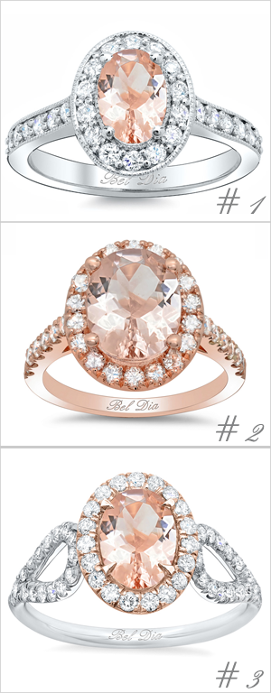 Oval Morganite Engagement Rings