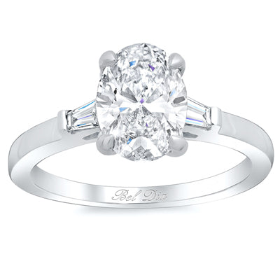 Diamond Accented Engagement Rings Oval