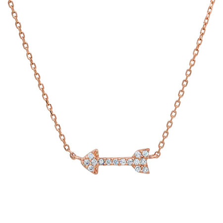 Pave Diamond Arrow Necklace