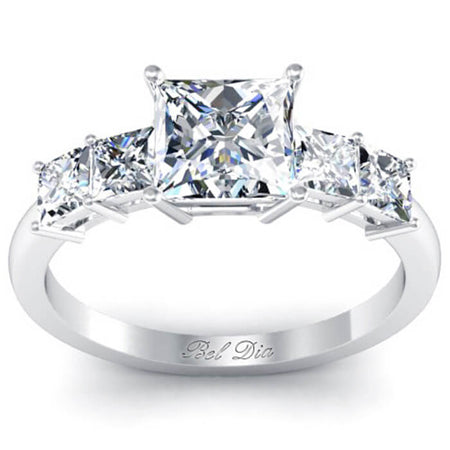 Princess Five Stone Engagement Ring