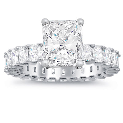 Radiant Diamond Eternity Engagement Rings
