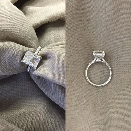 Custom Radiant Engagement Ring
