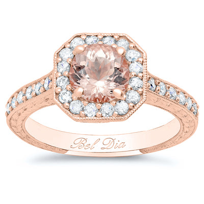rose-gold-art-deco-square-halo-engagement-ring-for-round-morganite