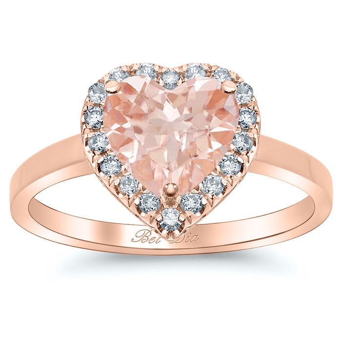 morganite engagement rings heart