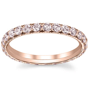 Rose Gold Pink Diamond Eternity Ring
