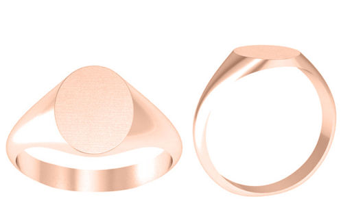 Women's Signet Ring for Monogram