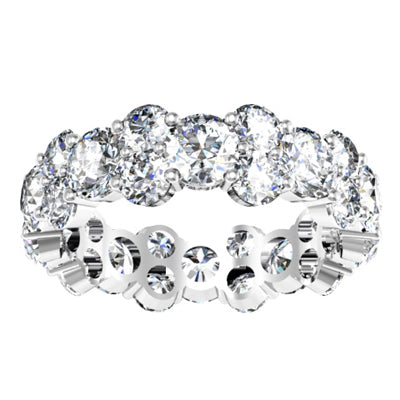 Round Diamond Garland Eternity Band