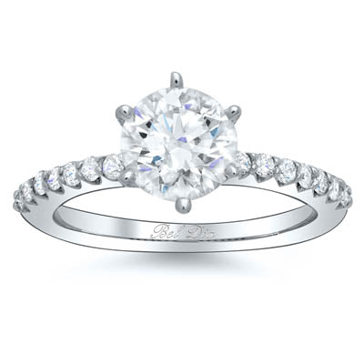 Inexpensive Diamond Accented Engagement Rings