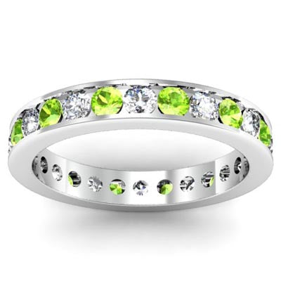 Peridot Eternity Rings
