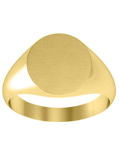Round Yellow Gold Women's Signet Rings