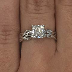 Diamond Celtic Knot Solitaire Engagement Ring