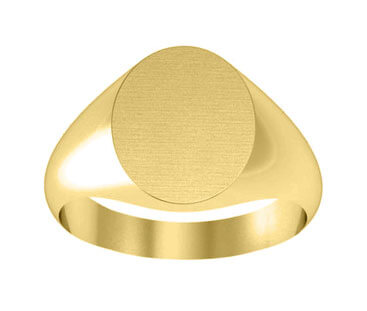 Oval Center Ladies Gold Signet Ring