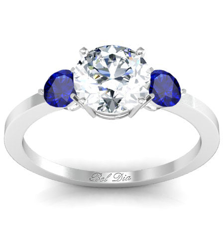 three stone Christian engagement rings