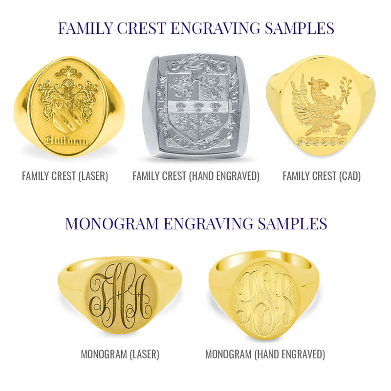 Signet Ring Engraving Styles