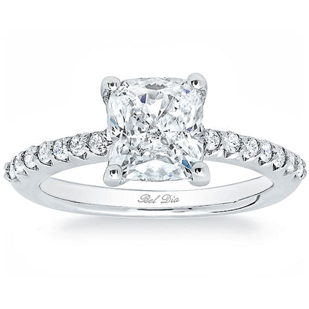 Moissanite and Diamond Engagement Rings