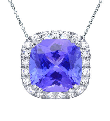 tanzanite-cushion-halo-pendant