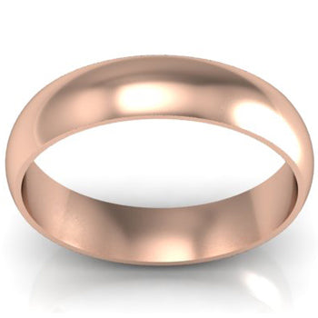 Traditional Wedding Band in 14k 5mm