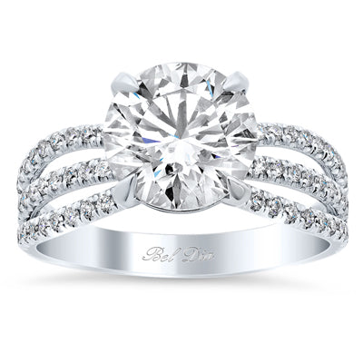 Triple Shank Engagement Ring